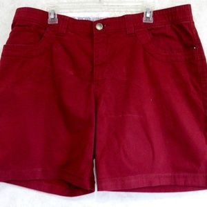 Lee Comfort Waistband Women's Shorts Red Size 20W